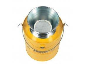 Bezpečnostní nádoba na hořlavé látky Justrite s trychtýřem, žlutá, 19 l