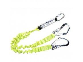 Dvojité elastické lano s tlumičem pádu, žlutá