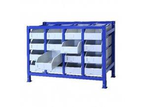 Zásuvkový regál s 16 šuplíky