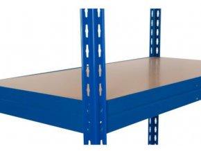 Přídavná dřevovláknitá police, 120 x 30 cm, 265 kg, modrá