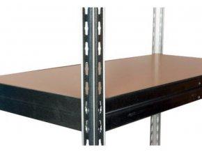 Přídavná dřevovláknitá police, 120 x 30 cm, 265 kg, pozink