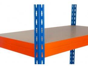 Přídavná dřevovláknitá police, 120 x 60 cm, 265 kg, oranžová