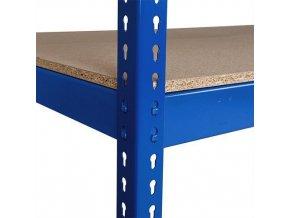 Přídavná dřevovláknitá police, 210 x 45 cm, 350 kg, modrá