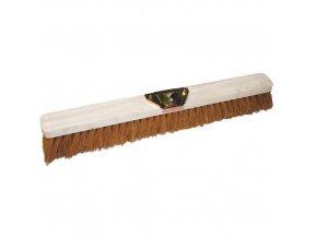 Dřevěný smeták Manutan Long bez tyče, 60 cm