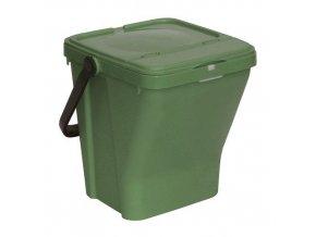 Odpadkový koš Rolland na tříděný odpad, objem 35 l, zelený