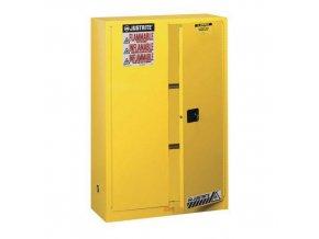 Skříň na hořlaviny Justrite Sure-Grip® EX, 1651 x 1092 x 457 mm, automatické uzavírání