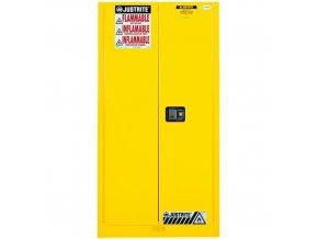 Skříň na hořlaviny Justrite Sure-Grip® EX, 1651 x 864 x 864 mm, automatické uzavírání