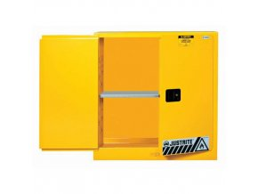 Skříň na hořlaviny Justrite Sure-Grip® EX, 1118 x 1092 x 457 mm, mechanické uzavírání