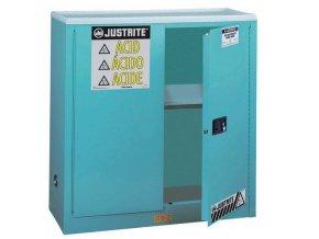 Skříň na nebezpečné látky Justrite Sure-Grip® EX, 1118 x 1092 x 457 mm, automatické uzavírání