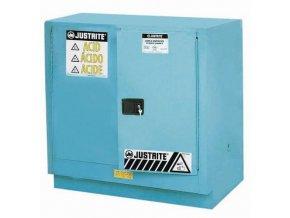 Skříň na nebezpečné látky Justrite Sure-Grip® EX, 889 x 889 x 559 mm, automatické uzavírání