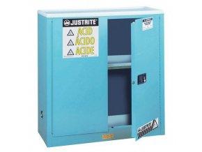 Skříň na nebezpečné látky Justrite Sure-Grip® EX, 1118 x 1092 x 457 mm, mechanické uzavírání