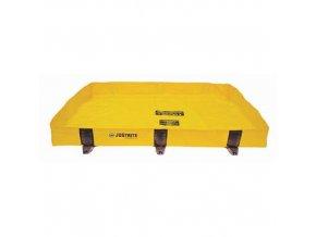 Záchytná nádrž Justrite RIGID-LOCK QUICKBERM®, žlutá, 451 l