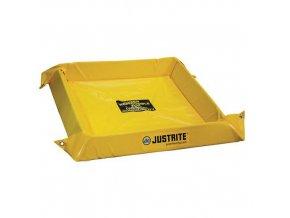 Záchytná nádrž Justrite, žlutá, 10,2 x 274,3 x 152,4 cm, 303 l