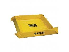 Záchytná nádrž Justrite, žlutá, 10,2 x 96,5 x 91,4 cm, 38 l