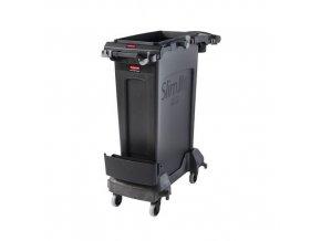 Úklidový vozík Rubbermaid Rim Caddy, objem 87 l, černý