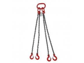Vázací řetěz s okem a čtyřmi háky, do 2 360 kg