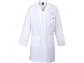 ESD antistatický plášť, bílá, vel. XS