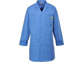 ESD antistatický plášť, modrá, vel. XXL