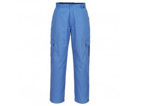 Antistatické ESD kalhoty, modrá, vel. XS