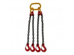 Vázací řetěz s okem a čtyřmi háky, do 6 700 kg