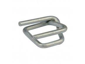 Ocelové pozinkované spony pro páskovače, drátové, 11 mm