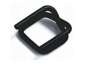 Ocelové fosfátované spony pro páskovače, drátové, 17 mm
