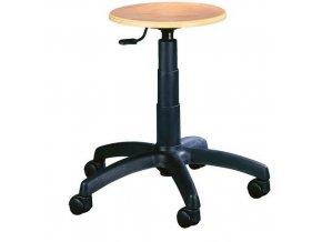 Pracovní stolička Natura s kolečky