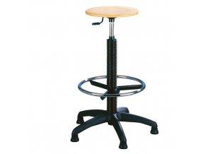 Zvýšená pracovní stolička Natura s kluzáky