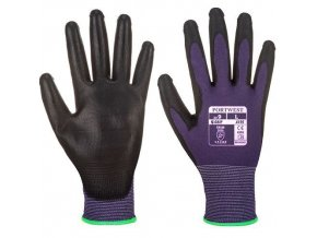 Dotykové rukavice PU, fialová, vel. XL