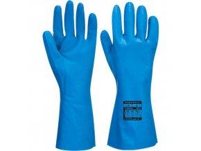 Nitrilové rukavice do potravinářství, modrá, vel. XS