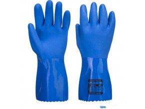 Chemické rukavice Marine Ultra PVC, modrá, vel. S