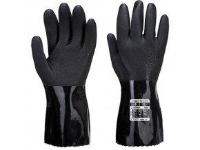 Chemická rukavice ESD PVC, černá, vel. S