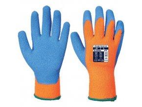 Rukavice Cold Grip, modrá/oranžová, vel. M
