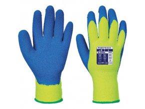 Rukavice Cold Grip, modrá/žlutá, vel. XXL