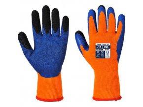 Rukavice Duo-Therm, modrá/oranžová, vel. XL