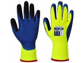 Rukavice Duo-Therm, modrá/žlutá, vel. L