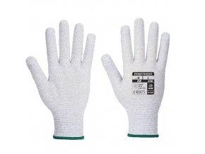 Rukavice Antistatic Micro Dot, bílá/šedá, vel. XL