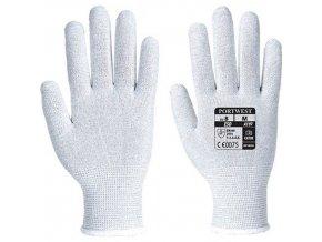 Antistatické rukavice, šedá, vel. XS