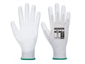 Antistatická rukavice PU dlaň, šedá, vel. XXS