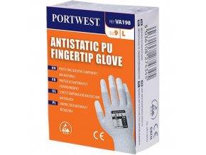 Antistatické rukavice PU Fingertip pro výdejní automat, šedá, vel. XS