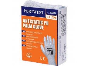 Antistatické rukavice PU dlaň pro výdejní automat, šedá, vel. L