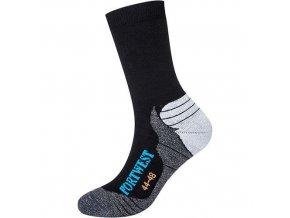 Ponožky Bamboo Hiker, černá, vel. 39-43