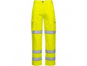 Dámské kalhoty HiVis, žlutá, vel. XXL