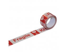 Lepicí páska s nápisem křehké, šířka 50 mm