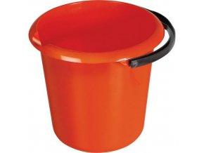 Plastový kbelík s výlevkou, 10 l, červený