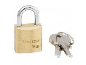 Mosazný visací zámek Master lock, průměr třmenu 5 mm, výška 14 mm