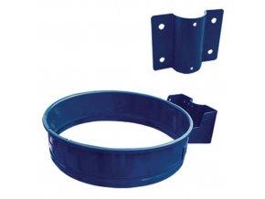 Kovový rámeček na odpadkové pytle pro objem 110 l, modrý