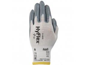 Nylonové rukavice Ansell HyFlex® 11-800 polomáčené v nitrilu, vel. 9