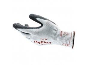 Pracovní rukavice Ansell HyFlex® 11-735 polomáčené v polyuretanu, vel. 10