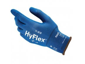 Nylonové rukavice Ansell HyFlex® 11-818 polomáčené v nitrilu, 1 pár, vel. 10